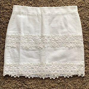 J Crew Factory Floral Lace Skirt